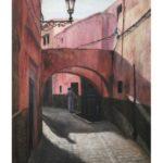 油絵『モロッコの街角』