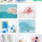 抽象画、立体造形作品