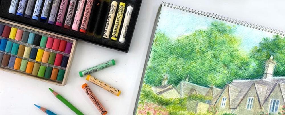 絵画クラス パステル 色鉛筆