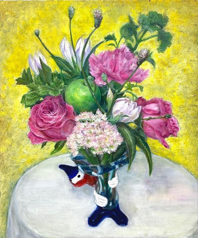 油絵『花』