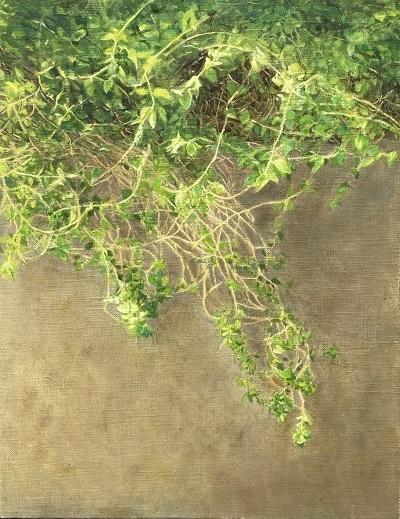 生徒作品油絵『植物』