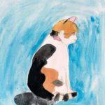 ジュニアクラス会員作品 水彩画『猫』