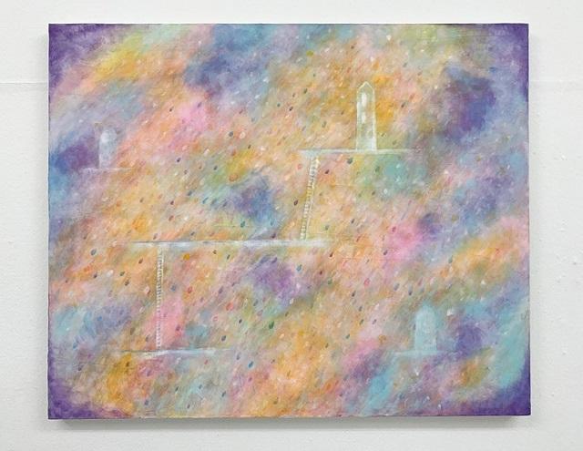 新田会員様『interactive 2021』油彩抽象画作品