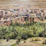 会員作品 油絵『モロッコの風景』